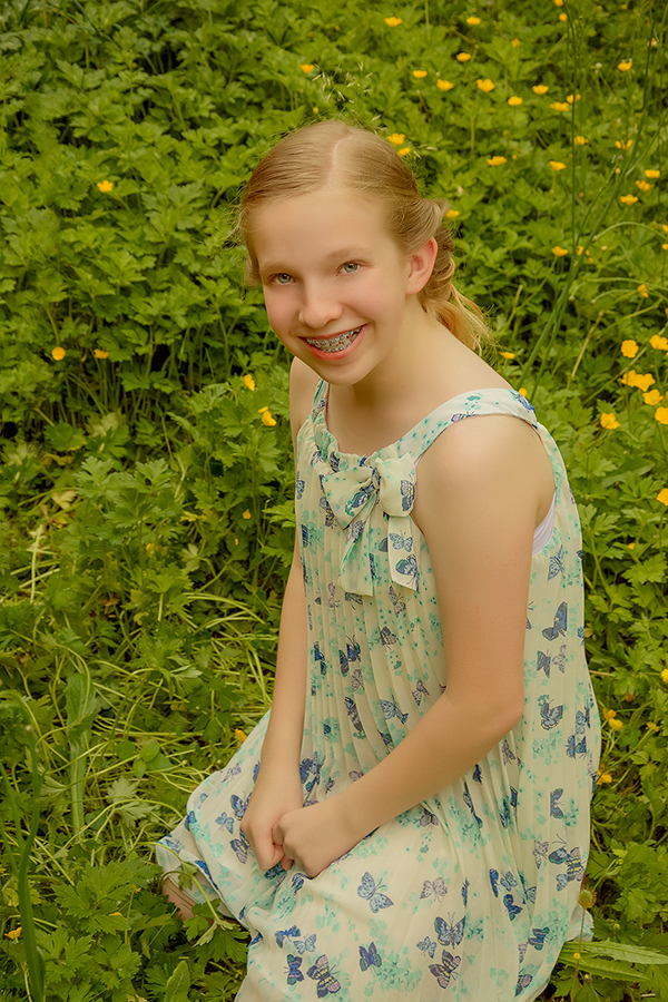 13 yr old girl,summer dress,chapters photography