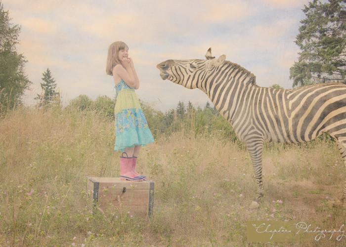 How do you get a zebra to laugh