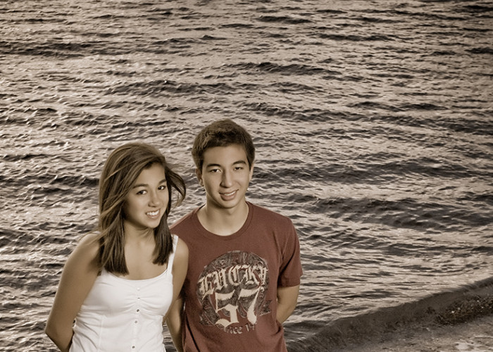 Parker Brother and Sister Portraits